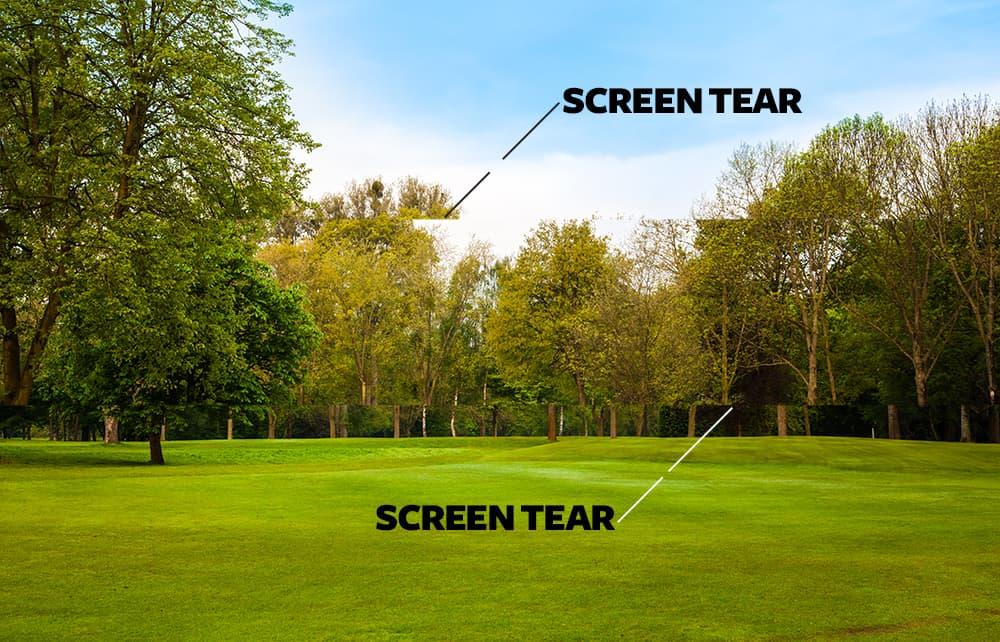 simulated screen tear